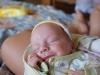 След 15-тина минути, малкият ни изстрадал и до болка изстрадан син се отпусна усмихнат и остана така близо час.